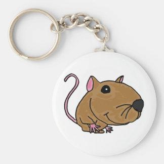 XX ratón enrrollado Llavero Personalizado