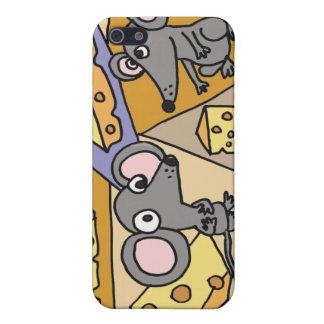 XX ratones y arte del queso iPhone 5 Carcasa
