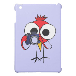 XX- Red Cardinal Bird with Camera Cartoon Cover For The iPad Mini