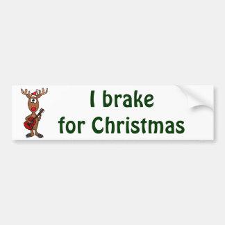 XX- Reindeer Playing Guitar Car Bumper Sticker