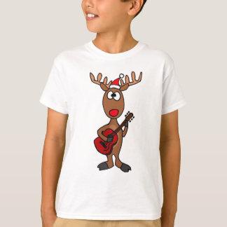 XX- Reindeer Playing Guitar T-Shirt