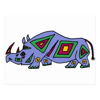 XX rinoceronte enrrollado Tarjeta Postal