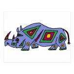 XX rinoceronte enrrollado Tarjetas Postales