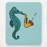 XX- Seahorse Playing Saxophone Mousepad