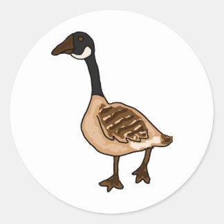 XX- Silly Goose Cartoon Round Sticker