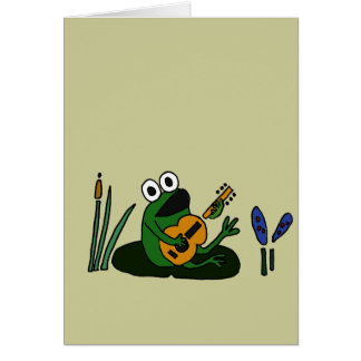 XX- Singing Frog with Guitar Card