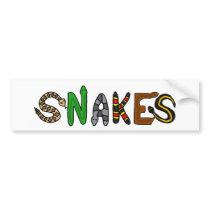 XX- Snakes Letters Art Bumper Sticker