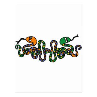 XX- Snakes Tribal Art Postcard