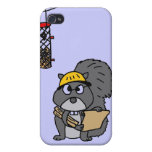 XX- Squirrel Engineer iPhone 4 Cases