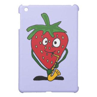 XX- Strawberry Playing Saxo Case For The iPad Mini