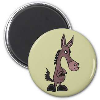 XX- Stubborn Mule or Donky Cartoon Magnet