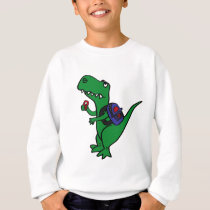 XX- T-rex Dinosaur Back to School Cartoon Sweatshirt