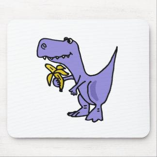 XX- T-Rex Dinosaur Eating Banana Cartoon Mouse Pad