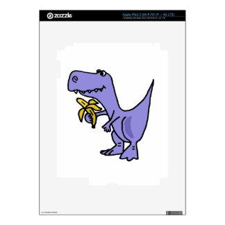 XX- T-Rex Dinosaur Eating Banana Cartoon Decals For iPad 3