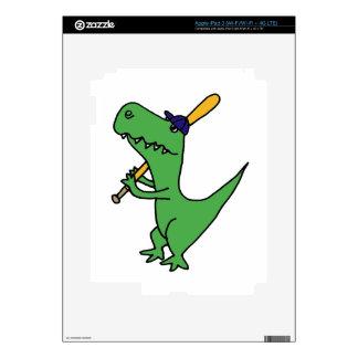 XX- T-rex Dinosaur Playing Baseball iPad 3 Skins