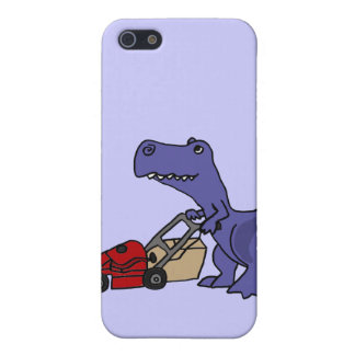 XX- T-rex Dinosaur Pushing Lawn Mower Cover For iPhone SE/5/5s