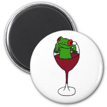 XX- Tree Frog in a Wine Glass Magnet
