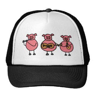 XX tres pequeños cerdos musicales Gorra
