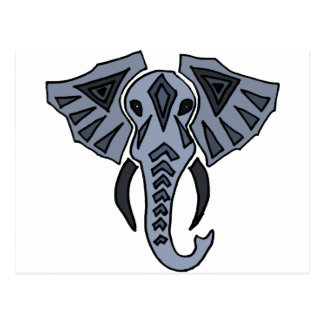 XX- Tribal Elephant Art Postcard