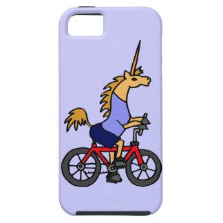 XX- Unicorn Riding Bicycle Cartoon iPhone 5 Cases