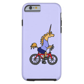 XX- Unicorn Riding Bicycle Cartoon Tough iPhone 6 Case