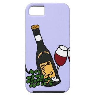 XX vino y diseño del arte de las uvas iPhone 5 Carcasa