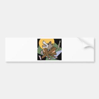 XX- Werewolf Transformation Bumper Sticker