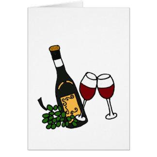 XX- Wine and Glasses Art Card