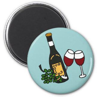 XX- Wine and Glasses Art Magnet