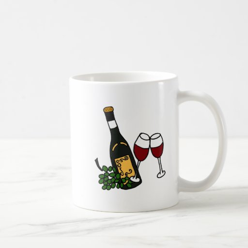 XX- Wine and Glasses Art Mug