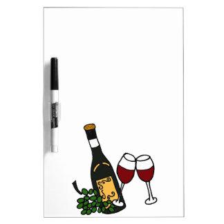 XX- Wine and Grapes Art Design Dry Erase Board