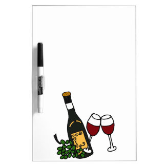 XX- Wine and Grapes Art Design Dry-Erase Whiteboards