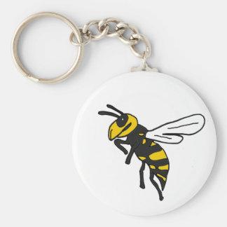 XX- Yellow Jacket Art Basic Round Button Keychain