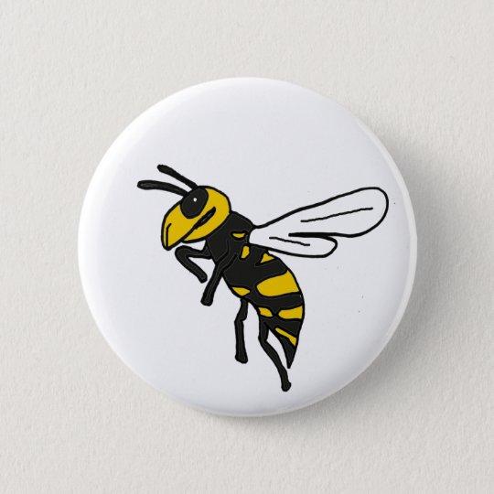 XX- Yellow Jacket Art Button