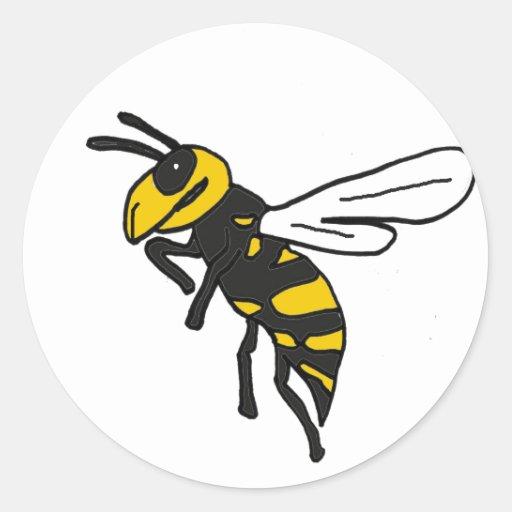 XX- Yellow Jacket Art Round Sticker