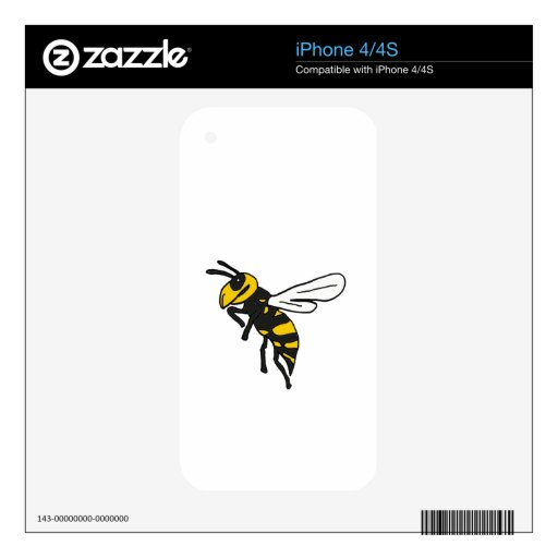XX- Yellow Jackets Bee Design Skin For The iPhone 4