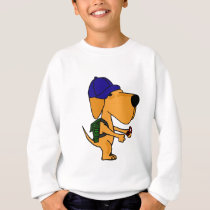 XX- Yellow Labrador Dog Back to School Cartoon Sweatshirt