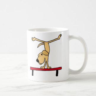 XX- Yellow Labrador on Balance Beam Cartoon Coffee Mug