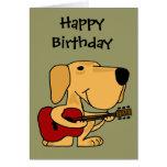 XX- Yellow Labrador Retriever Playing Guitar Greeting Card
