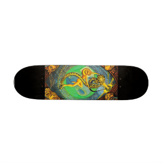 XXI The Universe from Thoth Tarot- Skateboard