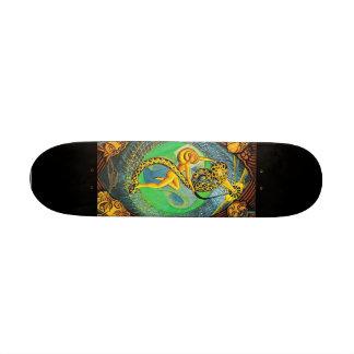 XXI The Universe from Thoth Tarot- Skateboard