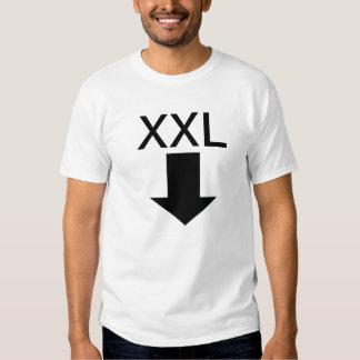 XXL abajo debajo de la camiseta Camisas