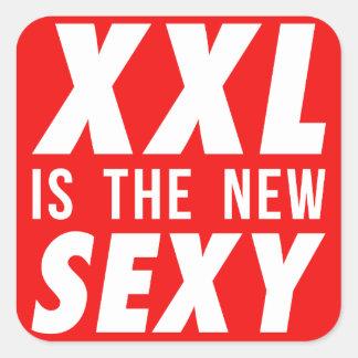XXL es el nuevo atractivo Pegatina Cuadrada