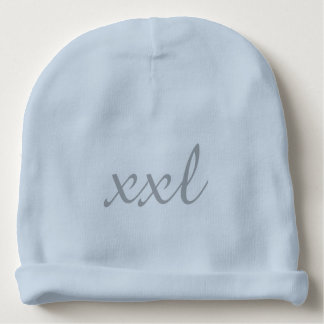 XXL Extra Extra Large Text Baby Beanie Light Blue