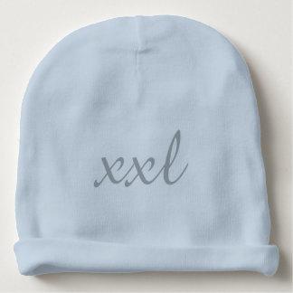 XXL Extra Extra Large Text Baby Beanie Light Blue