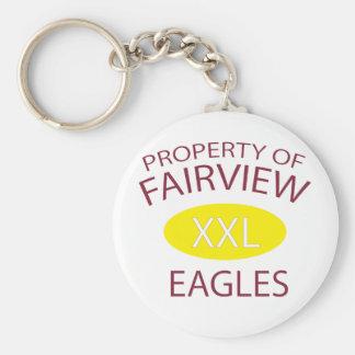 XXL Fairview Basic Round Button Keychain