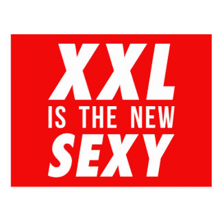 XXL is the new sexy Postcard