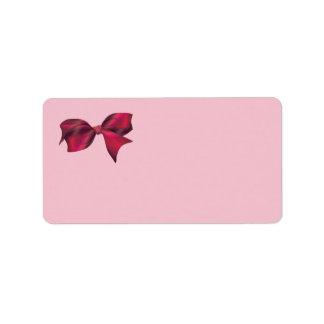 XXOO Bows & Roses Matching Set Address Label