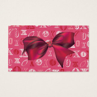 XXOO Bows & Roses Matching Set Business Card