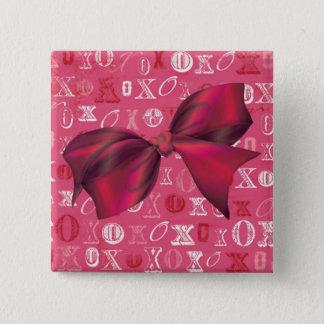 XXOO Bows & Roses Matching Set Pinback Button